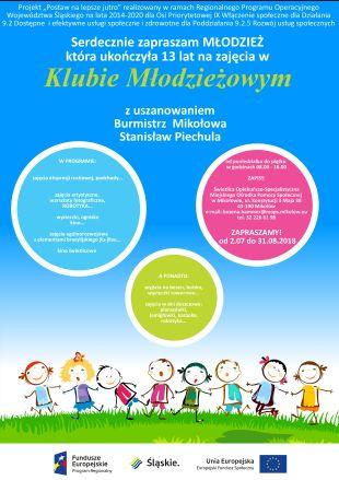 plakat klub młodzieżowy